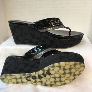 Coach Jody Wedge Sandals New Condition
